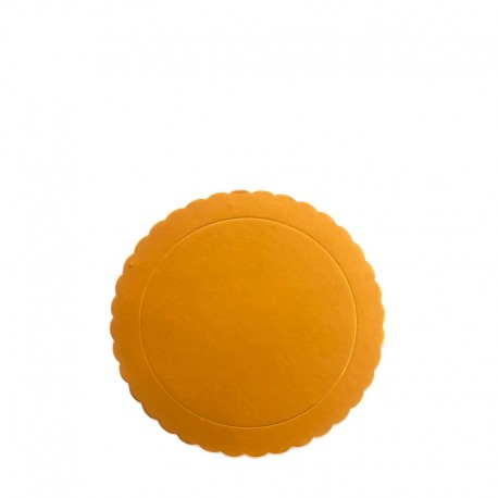 Support à gâteaux rond - Bords ondulés - épaisseur 3 mm - Différents coloris