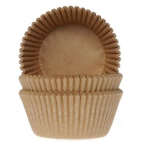 """50 caissettes à cupcakes standard """"Kraft"""""""
