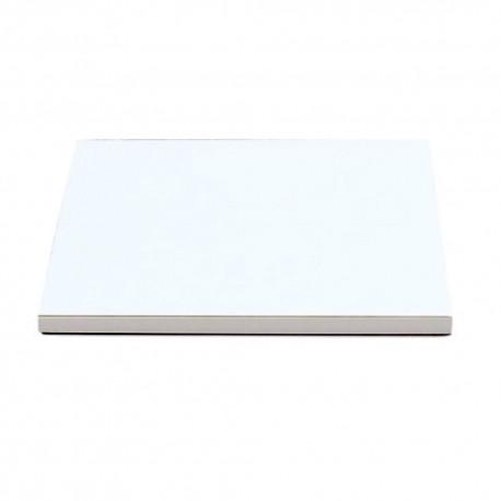 Support à gâteau blanc carré épaisseur 1,2cm - Différentes tailles