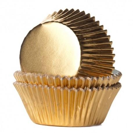 """24 caissettes à cupcakes standard """"Doré"""""""