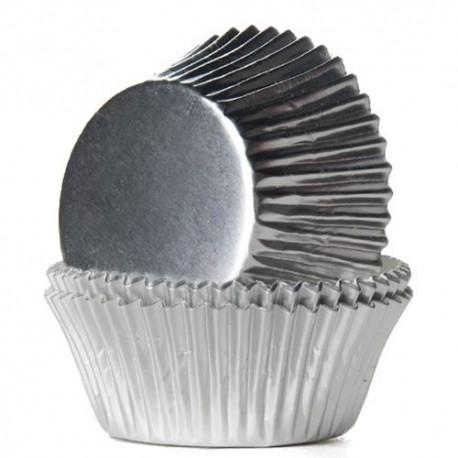 """24 caissettes à cupcakes standard """"Argenté"""""""