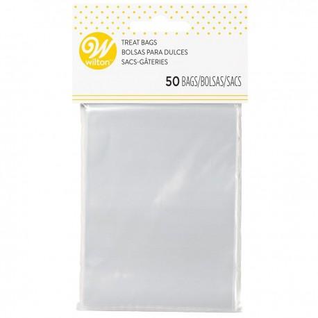 50 sachets à confiseries transparents