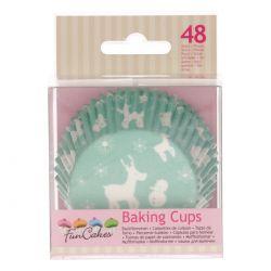 48 caissettes à Cupcakes - Féerie Hivernale