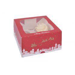 2 boîtes à 4 cupcakes Noël