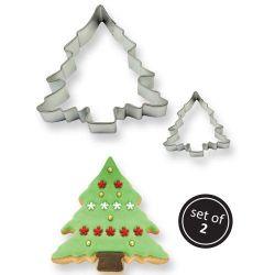 2 emporte-pièces sapin de Noël