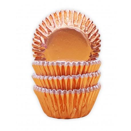 """60 mini caissettes à cupcakes """"cuivre"""""""