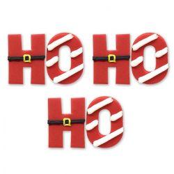 "6 décors en sucre ""Ho Ho Ho"""