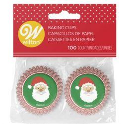 """100 mini caissettes à cupcakes """"Papa Noël"""""""