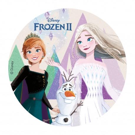 """Disque azyme """"Elsa et Anna - La Reine des Neiges 2"""" - 20 cm"""