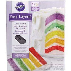 """Set de 5 moules à gâteaux pour layer cake """"Rond"""" - 15,2 cm"""