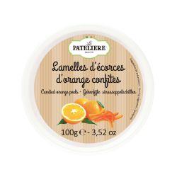 Lamelles d'écorces d'oranges confites - 100 g