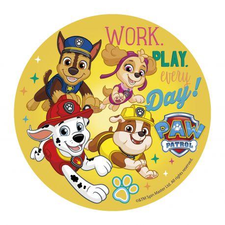 Disque en pâte à sucre Pat' Patrouille - Work, play, everyday - 20 cm