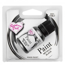 """Peinture comestible métallique """"noir"""""""