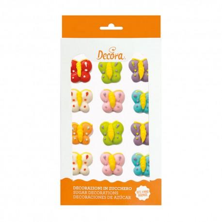 """12 décors en sucre """"Papillons"""""""