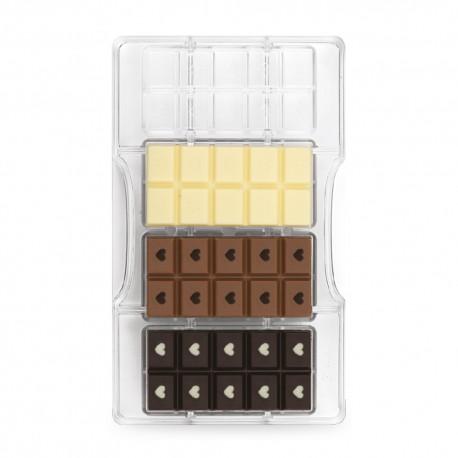 """Moule à chocolats """"tablettes love"""" 4 cavités"""