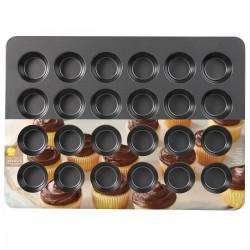 Moule à muffins antiadhésif taille standard - 12 cavités