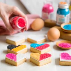 """Décor en sucre """"Poudre cristallisée"""" - Différentes couleurs"""