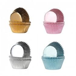 """36 mini caissettes à cupcakes """"Doré"""""""