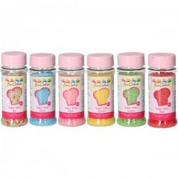 """Décors en sucre """"petits granulés tailles variées"""" - 80 g"""