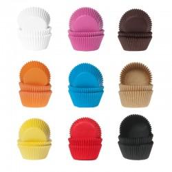 60 mini caissettes à cupcakes - Différentes couleurs
