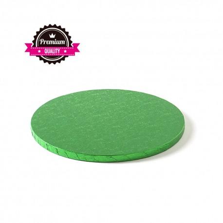 Cake drum rond vert foncé épaisseur 1.2 cm - Différentes tailles