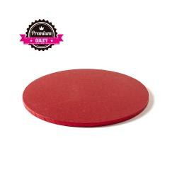 Cake drum rond rouge épaisseur 1.2 cm - Différentes tailles
