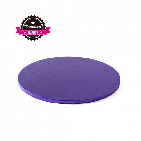 Cake drum rond violet épaisseur 1.2 cm - Différentes tailles