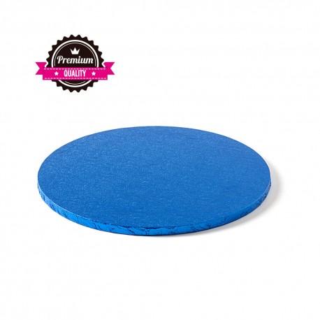 Cake drum rond bleu foncé épaisseur 1.2 cm - Différentes tailles