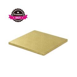 Cake drum carré doré épaisseur 1.2 cm - Différentes tailles