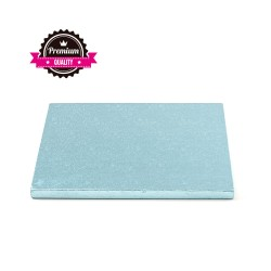 Cake drum carré bleu ciel épaisseur 1.2 cm - Différentes tailles