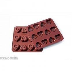 """Moule à chocolat en silicone """"Coeurs"""""""