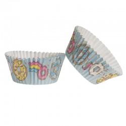 """25 caissettes à cupcakes standard en papier """" fast food"""""""