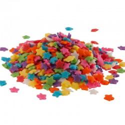 Confettis multicolores étoiles - 100 g