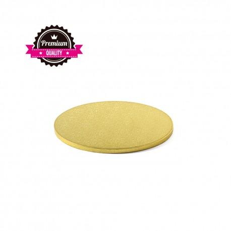 Cake drum rond doré - 20 x 1.2 cm