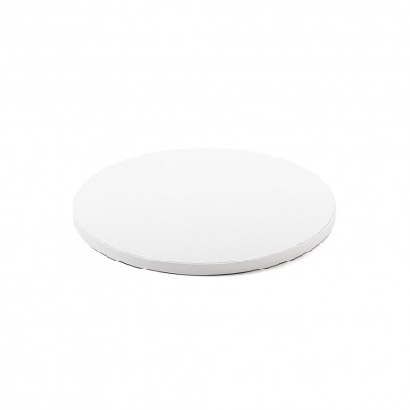 Cake drum rond blanc - 25 x 1 cm