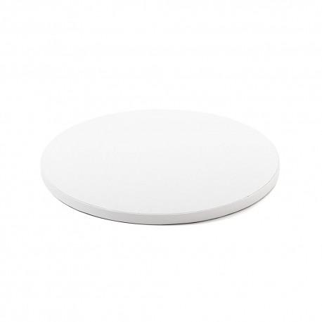 Cake drum rond blanc - 36 x 1 cm