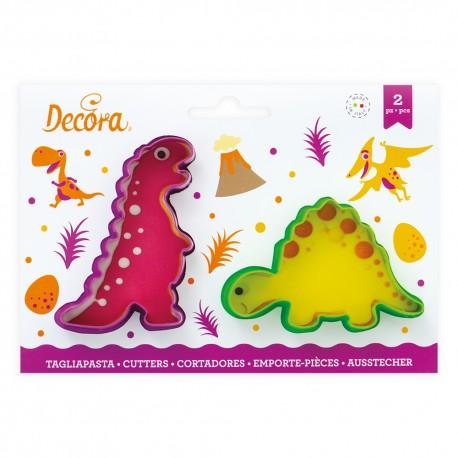 "Lot de 2 emporte-pièces ""Dinosaures"""