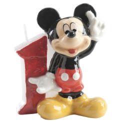 Bougie d'anniversaire Mickey à chiffre