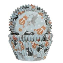 """50 caissettes à cupcakes """"Chats"""""""