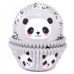 """50 caissettes à cupcakes """"Panda"""""""