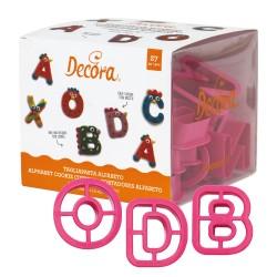 27 emporte pièces en plastique alphabet