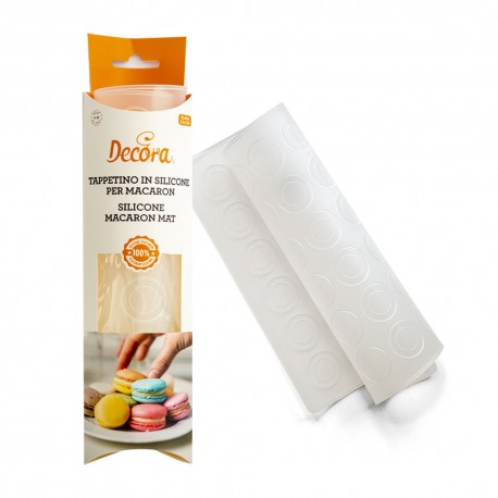 Tapis à macarons en silicone (28 cavités)