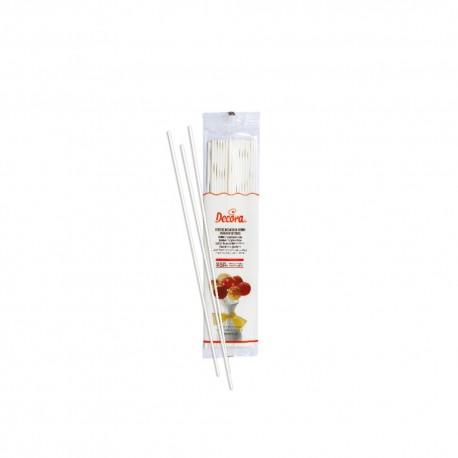 """25 bâtonnets à cake pop """"blanc"""" - 15,2 cm"""