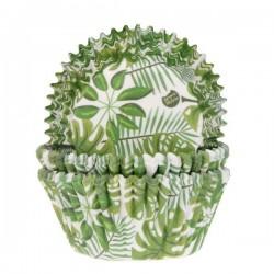 """50 caissettes à cupcakes """"feuilles de palmiers"""""""