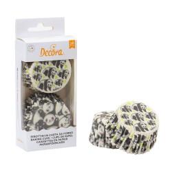 """36 caissettes à cupcakes standard """"panda"""""""