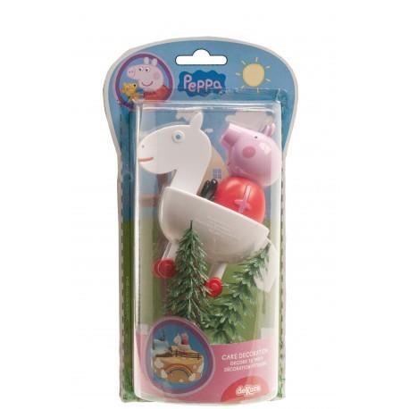 """Kit de décoration pour gâteau """"Peppa pig"""""""
