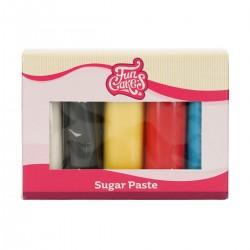 Pack de 5 pâtes à sucre - Couleurs primaires