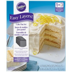 Set de 5 moules à gâteaux ronds pour layer cake - 15,2 cm