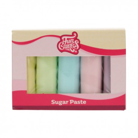 """Pack de 5 pâtes à sucre - """"Pastel"""""""