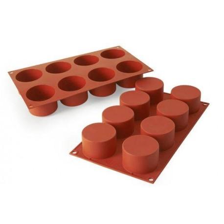 """Moule en silicone """"cylindre"""" - 8 cavités"""